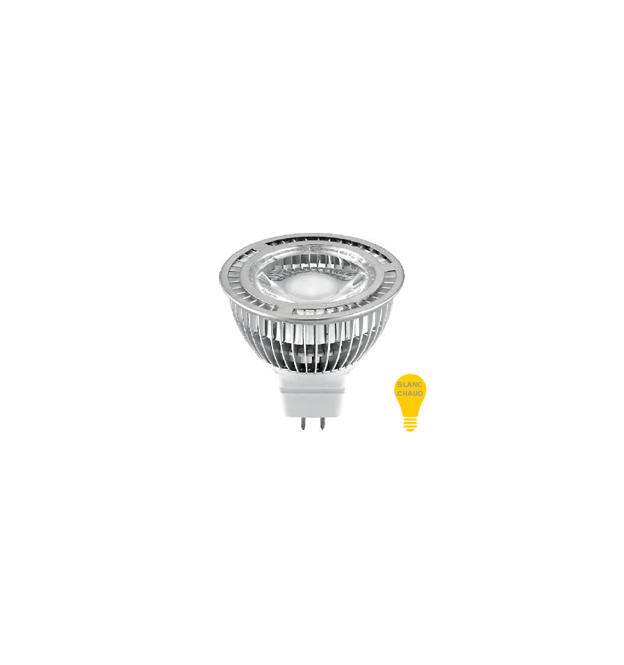 Lampadina per faretto led 5w mr16 3000k 30000h for Lampadine led faretti