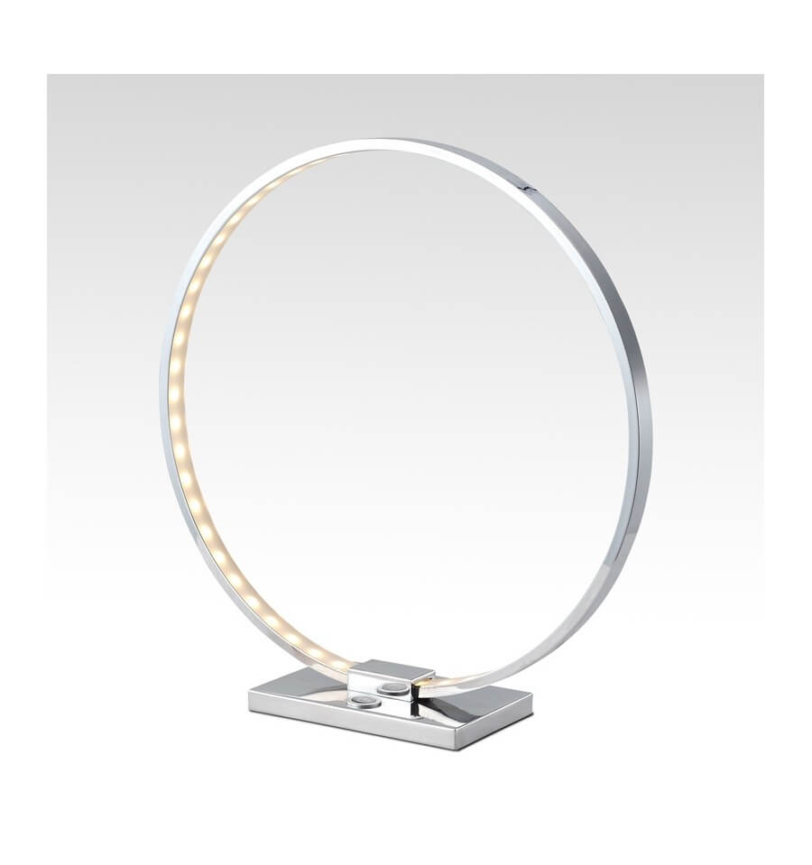 Lampada da tavolo design cromo led collection circle for Lampada tavolo design