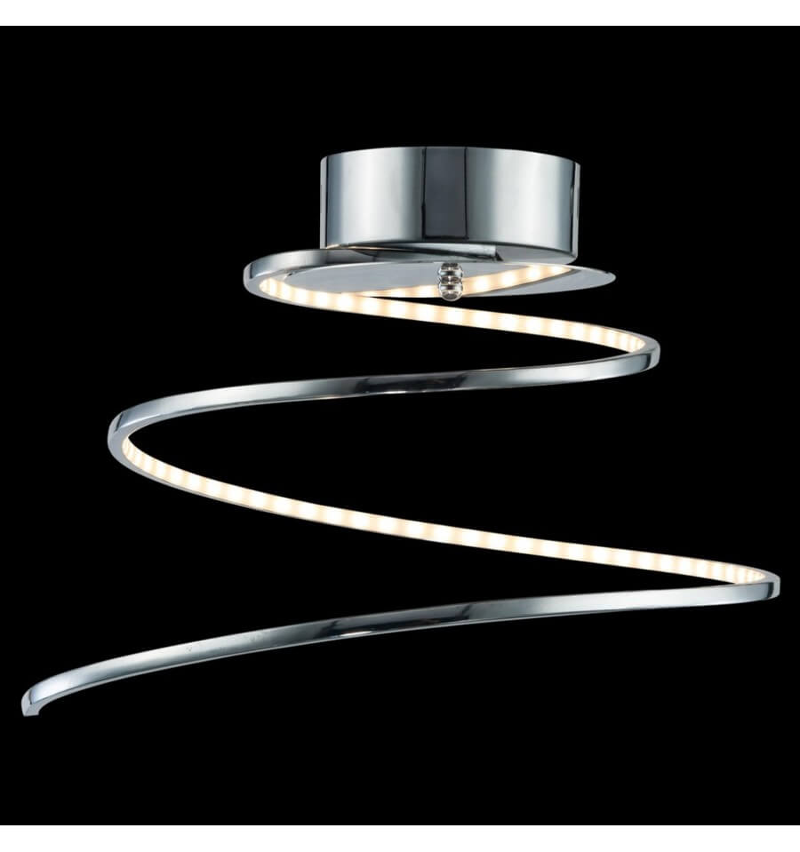 plafoniera design led cromo spirale looper. Black Bedroom Furniture Sets. Home Design Ideas