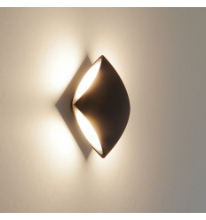 Applique - LED quadrato alluminio nero design - Bowa