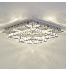 Plafoniera - LED cristallo 2 quadrati design - Wade