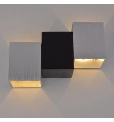 Applique LED design cromo e nero - Terma
