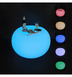Tavola luminosa LED multicolore RGB con telecomando