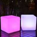 Cubo luminoso 40cm LED multicolore RGB con telecomando